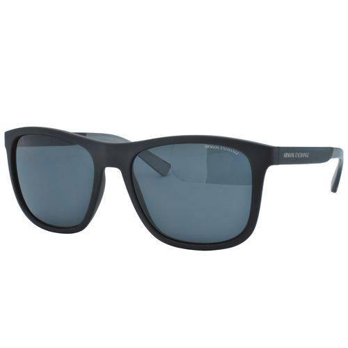 Óculos de Sol Armani Exchange Masculino Ax4049sl 818287 - Acetato Fosco Preto