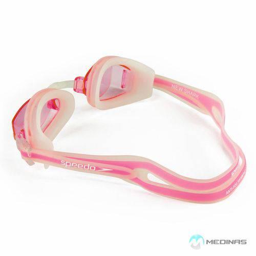 Óculos New Shark Transparente Rosa Claro U Speedo