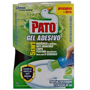 Odorizador Sanitário Gel Adesivo Citrus Pato 38g