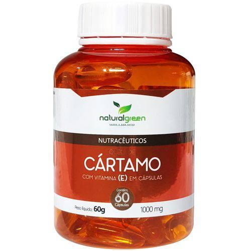 Óleo de Cártamo 1000mg com Vitamina e com 60 Cápsulas