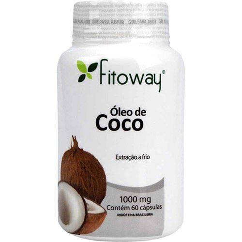 Óleo de Coco 1000mg - 60 Cápsulas - Fitoway