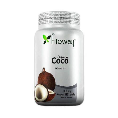Óleo de Coco 1g 120 Cápsulas - Fitoway