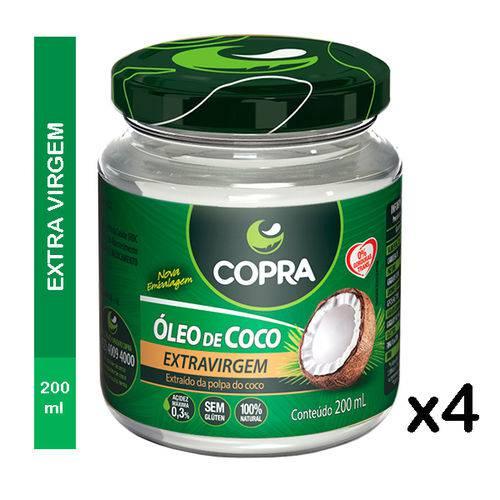 Óleo de Coco Copra Extra Virgem 4 X 200ml
