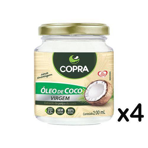Óleo de Coco Copra Virgem 4 X 200ml