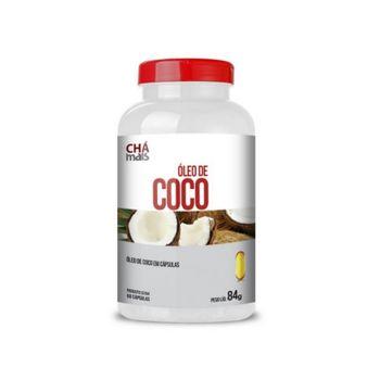Óleo de Coco Extra Virgem 1000mg Chá Mais 60 Cápsulas