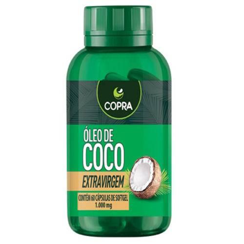 Oleo de Coco Extra Virgem 60 Caps 1000 Mg Copra