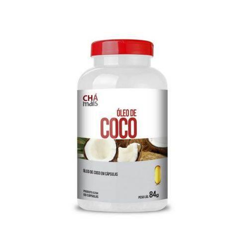 Óleo de Coco Extra Virgem Chá Mais 1000mg 60 Cápsulas