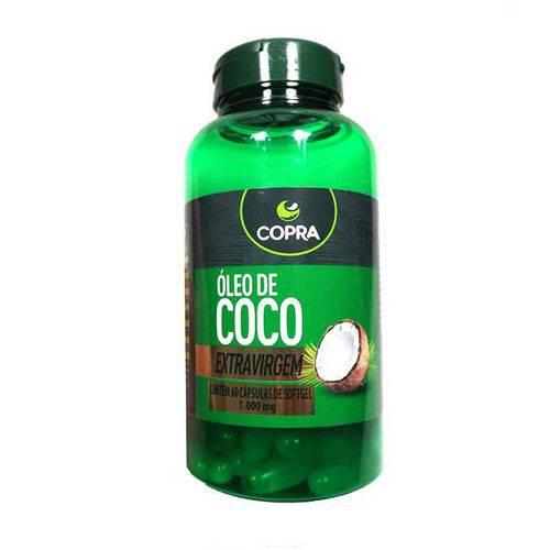 Óleo de Coco Extra Virgem Copra - 60 Cápsulas de 1000mg