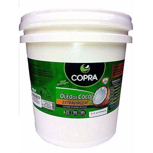Oleo de Coco Extra Virgem Copra Balde 3,2 Litros