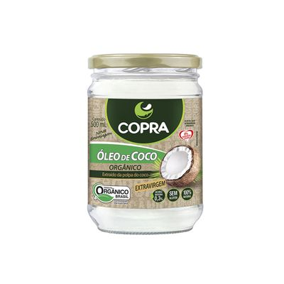 Óleo de Coco Extravirgem Orgânico 500ml - Copra