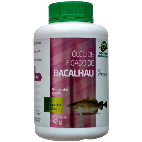 Óleo de Fígado de Bacalhau 120 Cápsulas de 250mg