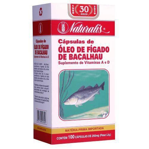 Óleo de Fígado de Bacalhau 250 Mg. 100 Caps. Naturalis