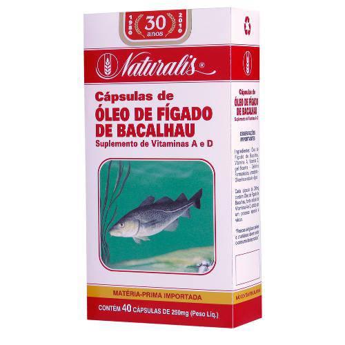 Óleo de Fígado de Bacalhau (250mg) 40 Cápsulas