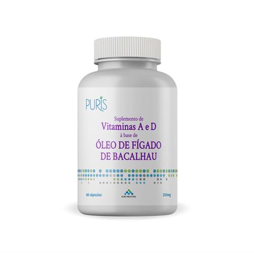 Oleo de Figado de Bacalhau - 250mg 60 Cápsulas