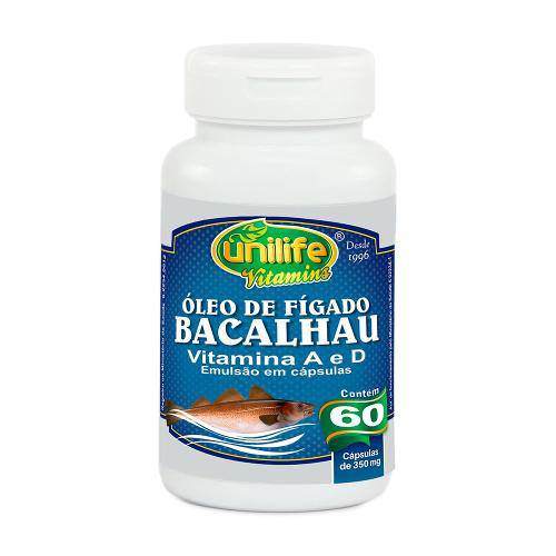 Óleo de Fígado de Bacalhau 60 Capsulas