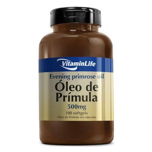 Óleo de Prímola Evening Primose Oil 500mg - Vitaminlife - 100 Softgels