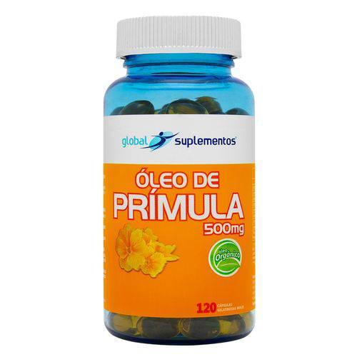 Óleo de Prímula Orgânico 500mg Global Suplementos - 120 Cápsulas