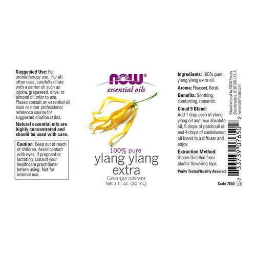 Óleo Essencial de Ylang Ylang Extra (30ml) Now Foods