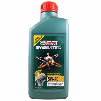 Óleo Lubrificante do Motor Castrol Magnatec SAE 5W40 100% Sintético Aprovação VW 50888/50999 1L