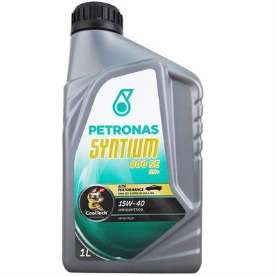 Óleo Lubrificante do Motor Petronas Syntium 800 SE 15W40 Semissintético API SN Plus Tecnologia CoolTech 1L