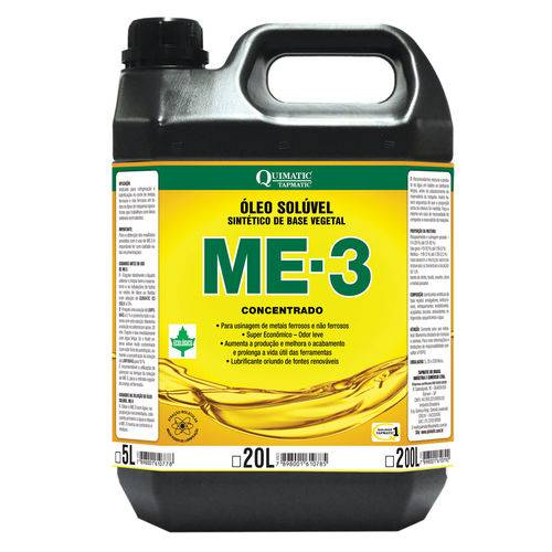 Óleo Solúvel Sintético de Base Vegetal 5 Litro Me-3