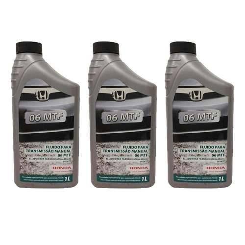 3 Oleo Transmissão Cambio Manual Honda Mtf 06 Fit Civic City