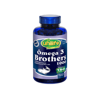 Ômega 3 Brothers 1400mg 180 Cápsulas Unilife