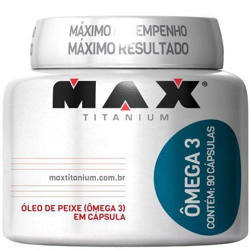 Ômega 3 Max Titanium 90 Cáps. - Óleo de Peixe