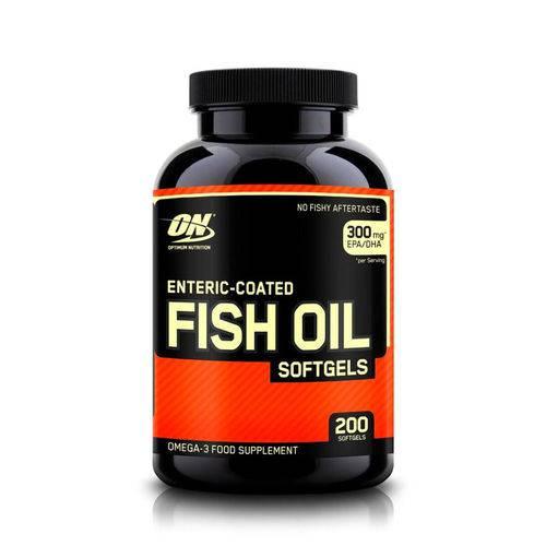 Ômega 3 Óleo de Peixe 300mg Fish Oil Optimum Nutrition 200 Cápsulas