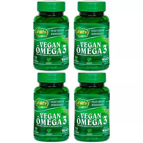 Ômega 3 Vegano - 4 Un de 60 Cápsulas - Unilife