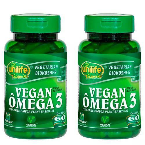 Ômega 3 Vegano - 2 Un de 60 Cápsulas - Unilife