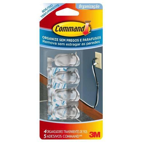 Organizador de Fios Command Transparente 3m