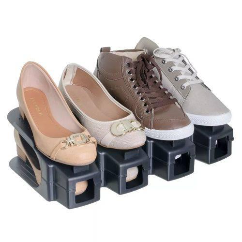 Organizador Rack Sapato 12 Unidades Preto