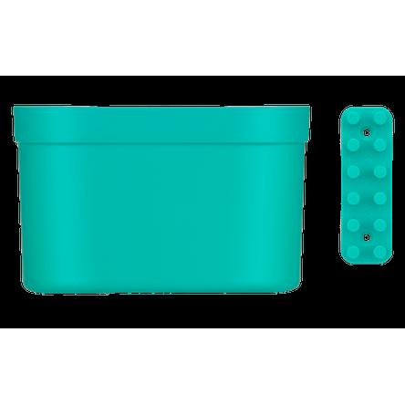 Organizador Grande com Barra Loft Up 21 X 16 X 9 Cm Verde Coza