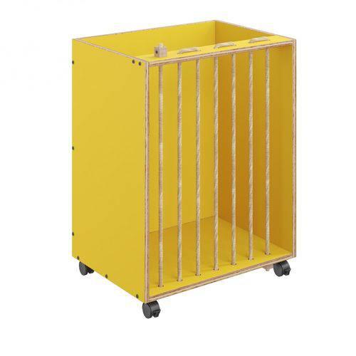 Organizador Multiuso com Rodízios e Sisal Cordel Be Mobiliário Amarelo