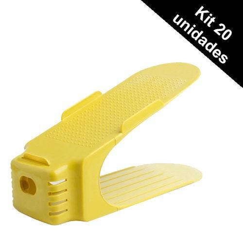 Organizador Rack Sapato 20 Unidades Amarelo