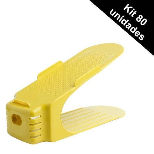Organizador Rack Sapato 80 Unidades Amarelo