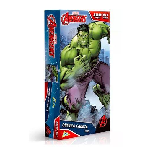 Os Vingadores Quebra Cabeça 200 Peças Hulk - Toyster
