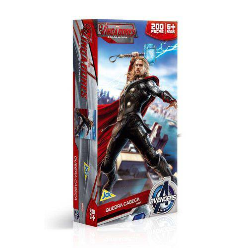 Os Vingadores Quebra-Cabeça 200 Peças Thor - Toyster