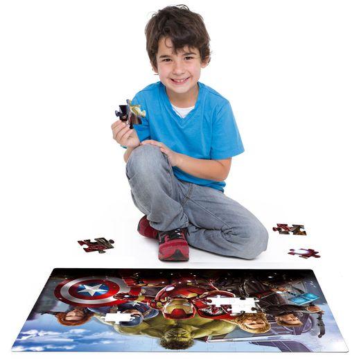 Os Vingadores Quebra Cabeça Grandão 120 Peças - Toyster