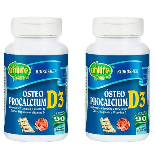 Ósteo Procalcium D3 - 2 Un de 90 Cápsulas - Unilife