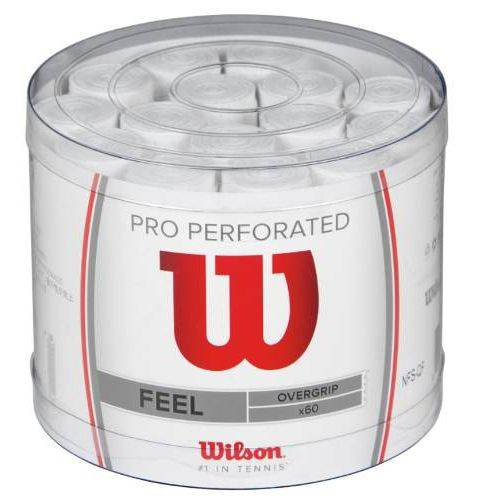 Overgrip Wilson Pro Pack Perforated C/ 30 Un. Branco Federer
