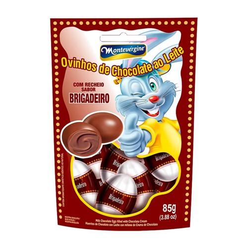 Ovinhos de Chocolate Montevérgine com Recheio Sabor Brigadeiro com 85g