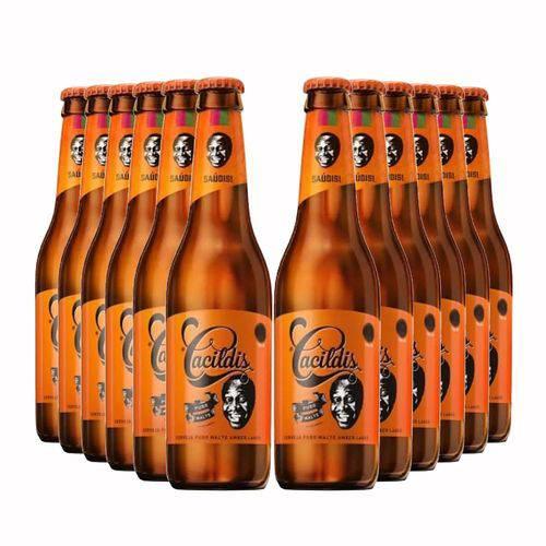 Pack 12 Cervejas Ampolis Cacildis 600ml