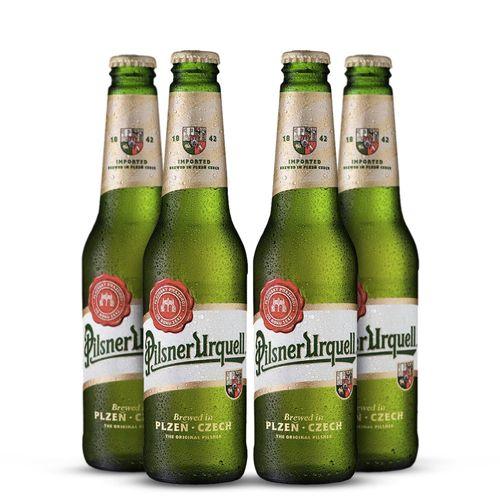 Pack Cerveja Pilsner Urquell 500ml - 4 Itens