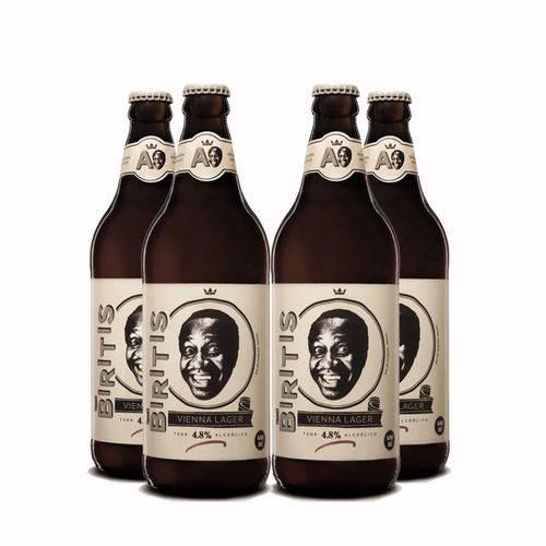 Pack 4 Cervejas Ampolis Biritis 600ml