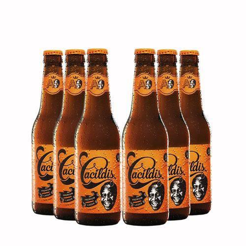 Pack 6 Cervejas Ampolis Cacildis 355ml