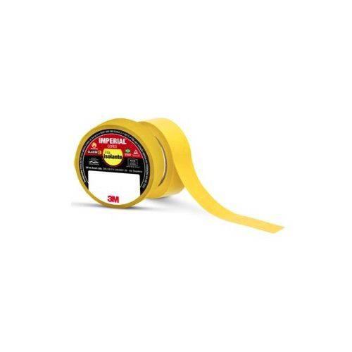Pacote com 10 Rolos - Fita Isolante 18mm X 10m IMPERIAL Amarela 3M