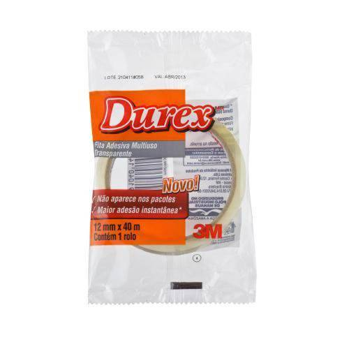 Pacote com 6 Rolos - Fita Durex 12mm X 40m 500 Transparente 3M