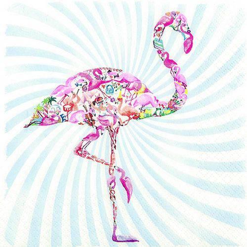 Pacote de Guardanapos Descartaveis Flamingo